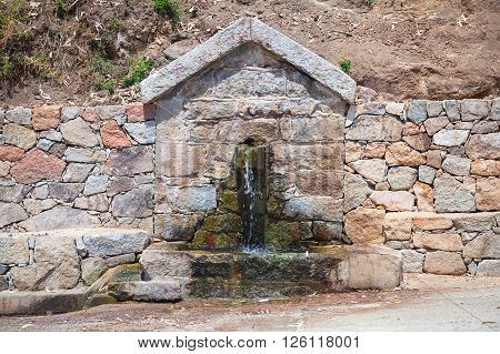 Drinking Water Source. South Corsica, France