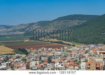 Galilee Village Under Mount Tabor