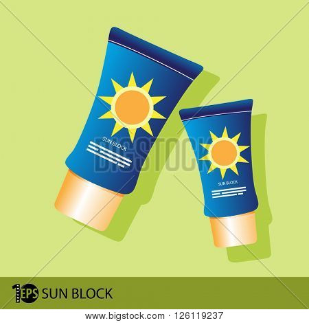 sunscreen flat design, eps10 vector