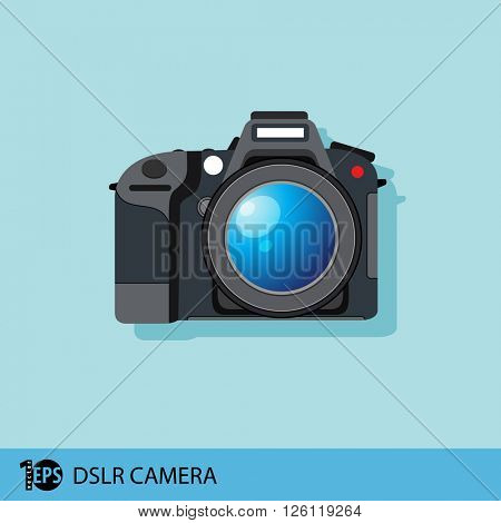 isolated camera dslr, eps10 vector