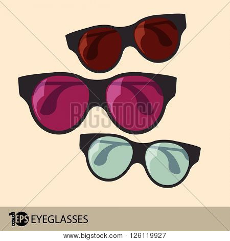 sunglasses concept design, eps10 vector
