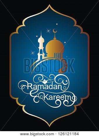Ramadan Kareem celebration . Ramadan Kareem card