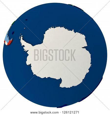 Political Antarctica Map