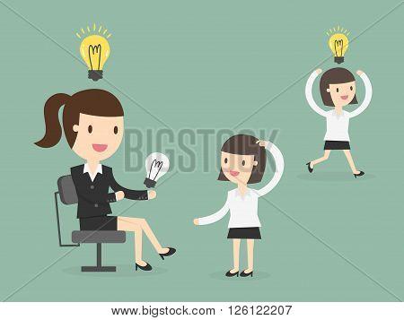 Share Ideas. vector illustration. Business Concept Cartoon Illustration.