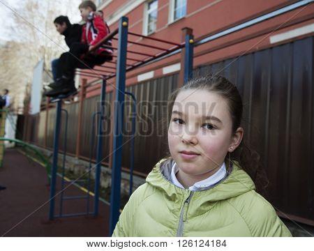 Street photography, portrait of Teen girl