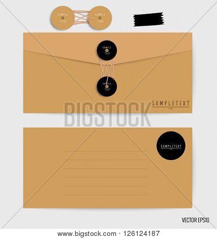 Envelopes set. Blank mockups. Vector illustration.
