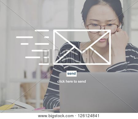Email Communication Correspond?nce Envelope Concept