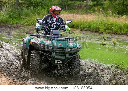 ATV in action having fun with sport