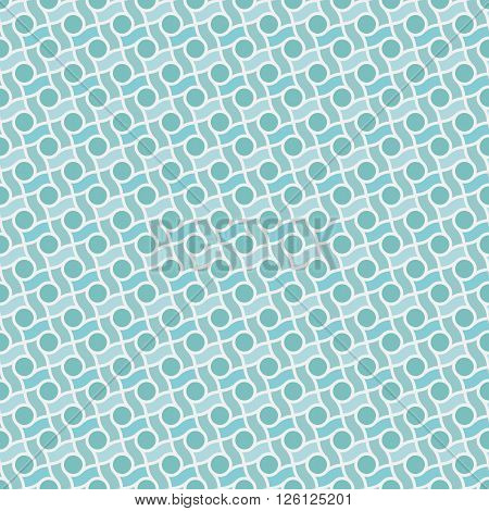 Abstract geometric retro pattern lines and circles. Seamless vector background. Plain colors - easy to recolor.