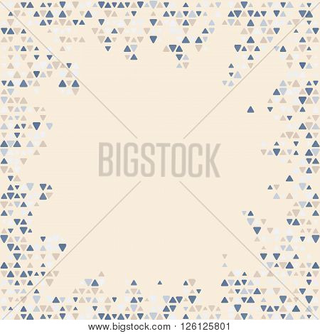 Abstract patterned frame with mixed small spots background . Free space for your text. Vector illustration.