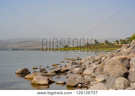 The Shores Of Lake Tiberias In Galilee