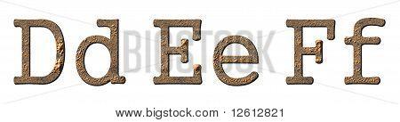 Conjunto de caracteres textura (letras Def)