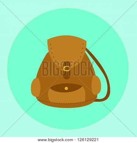 illustrated bagpack - backpack vector  for travel