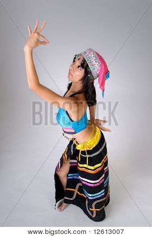 Chinese Woman Dancing