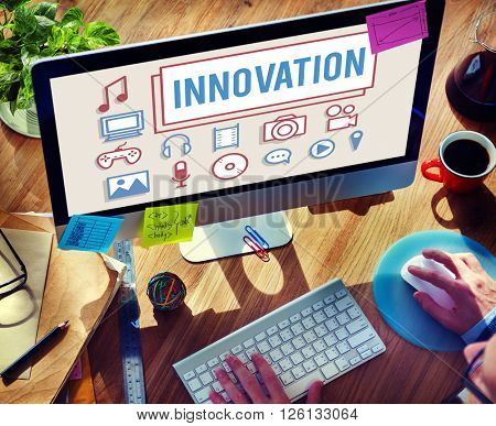Innovation Technology Be Creative Futuristic Concept