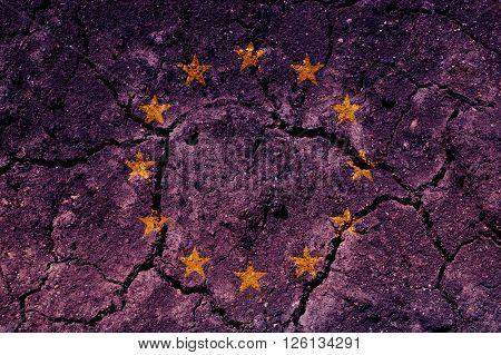 An European flag raster illustration (background, texture).
