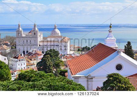 Church of Saint Vincente in Lisbon Portugal