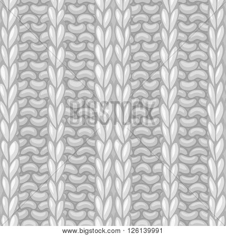 Seamless Ribbing Stitch Pattern.