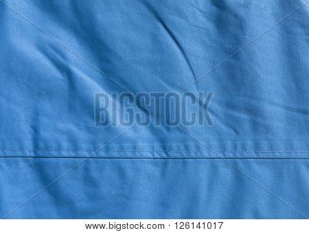 Blue Textile Texture Close-up.
