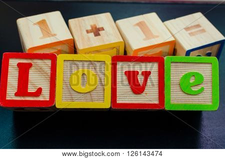 Wooden Word Love
