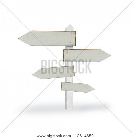 Signpost showing directions