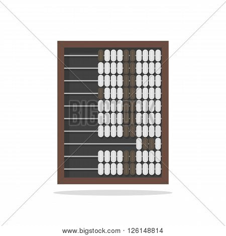 Traditional wooden abacus isolated on white background vector