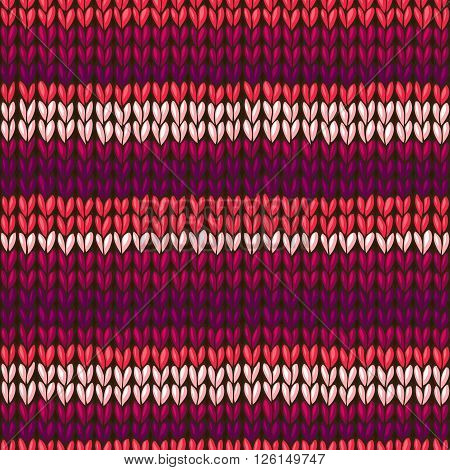 Vector Stockinette Stitch Texture.