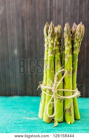 Asparagus, a bunch of fresh, green asparagus