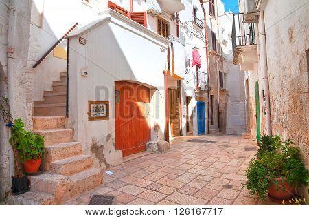 Alleyway. Polignano a mare. Puglia. Southern Italy.