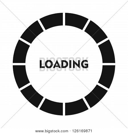 Circle loading bar icon in simple style on a white background