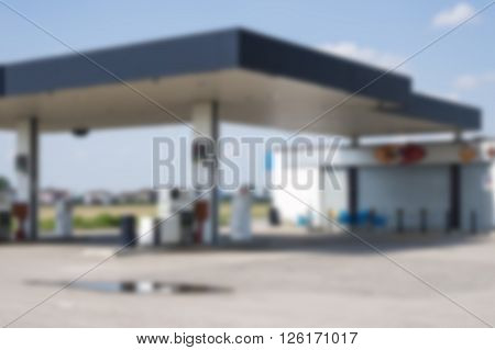 blurred benzine diesel station area for refueling