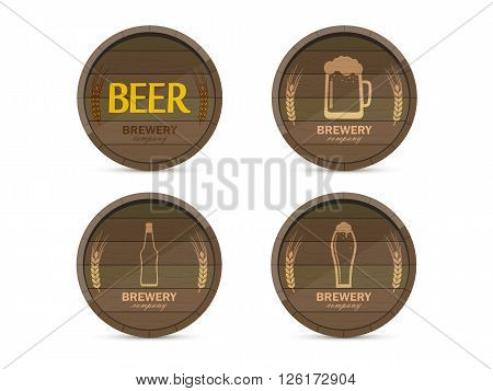 Set Of Logos Of The Brewery