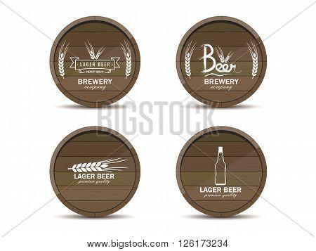 Logos On Beer Barrels