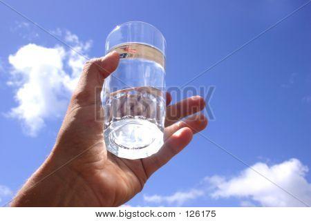 Hand Sky Water