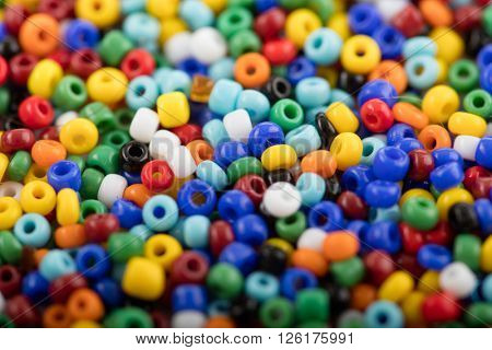 Background of colorful plastic beads