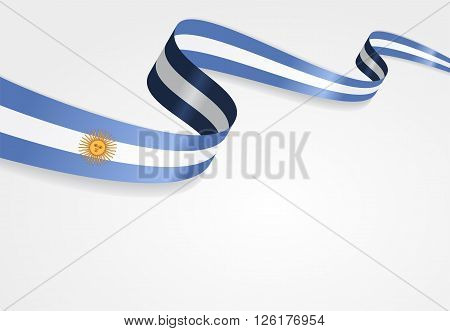 Argentinean flag wavy abstract background. Vector illustration.