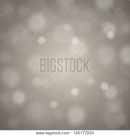 Abstract Blurred Background Of Beige Shiny Christmas Tree Decorations. Vector Illustration