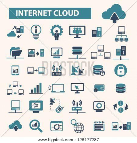 internet cloud icons