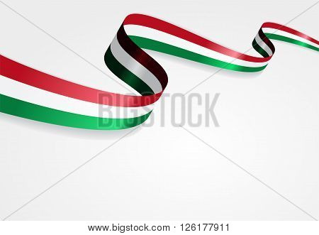 Hungarian flag wavy abstract background. Vector illustration.