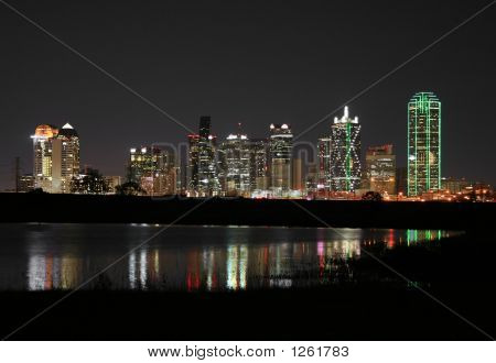 Downtown Dallas, Texas At Night