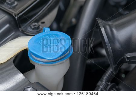 the liquid cap in car engine, fuel, tank, oil, windshield, liquid
