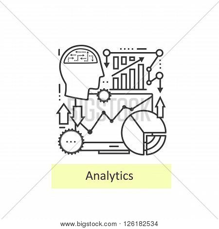 Modern thin line of icons analytics. Set of data analysis, business schedule with statistics, website , web analytics elements. Modern concept of a collection of vectors.