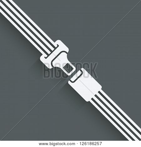 safety belt symbol - vector illustration. eps 10