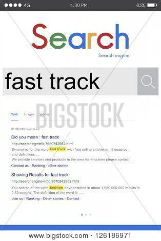 Fast Track Advancement Achievement Progress Concept