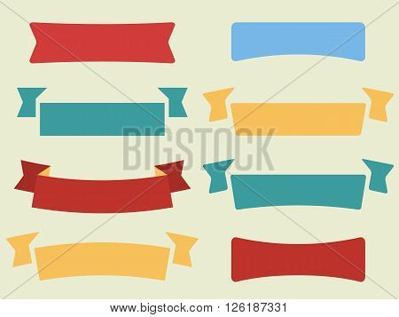 Vector Set Of Flat Ribbons