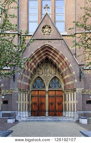 Amsterdam, Netherlands - May 5: This is building of ex-church the Posthoornkerk that is an official wedding location of the municipality of Amsterdam May 5, 2013 in Amsterdam, Netherlands.
