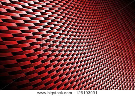 red curve carbon fiber on the black shadow. background and texture.