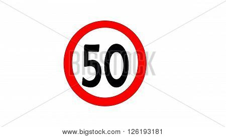 speed limit signs of 50 km per hour