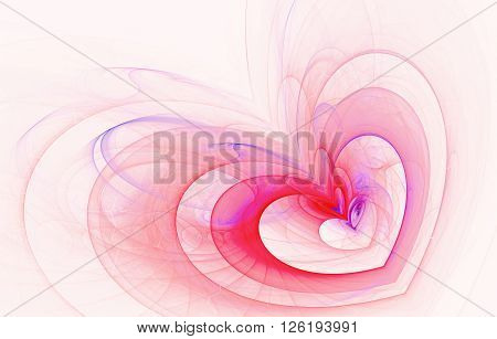 abstract fractal background a computer-generated 2D illustration, heart, love