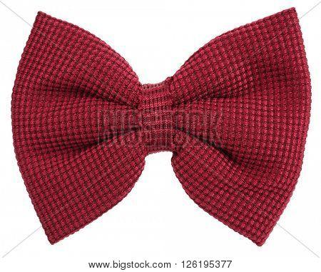 Maroon hair bow tie